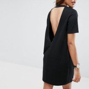 ASOS Open Back T-Shirt Dress with V Back